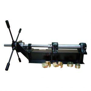 Extractor horizontal de muestras de tubos Shelby P-107, con tornillo sinfín