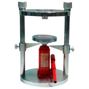 Extractor vertical de muestras manual para utilizar en moldes con diámetro de 4″ y 6″