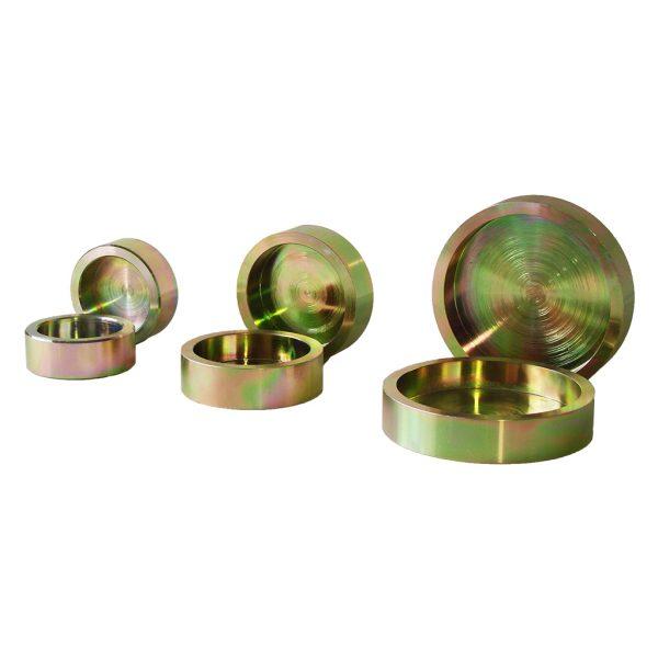Par de platos de retención para cilindros de concreto con diámetro de 2, 3, 4 o 6 pulgadas