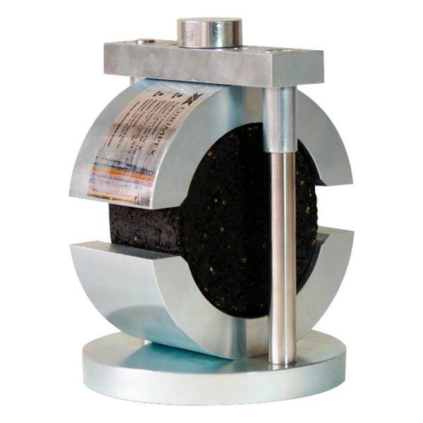 Cabezote para determinar la estabilidad Marshall y el flujo de mezclas asfálticas, en briquetas. Según normas ASTM D1559, D6927 y INV E-748