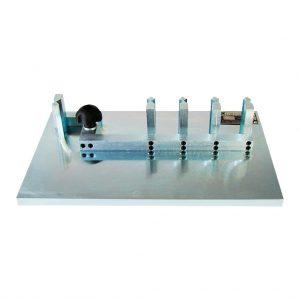Calibrador proporcional de cuatro estaciones para determinar la forma de los agregados. Según las normas ASTM D4791 y INV E240