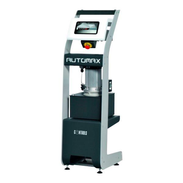 Consola super-automática Automax PRO fabricada para controlar bastidores de carga en ensayos a compresión y flexión, según normas ASTM C39, C78, C109, C140, C293, C348 y AASHTO T22