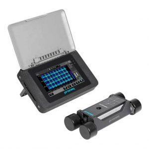 Detector de refuerzo Profometer PM-650 para ubicación, recubrimiento y cálculo del diámetro de las barras de refuerzo dentro del concreto