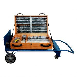 Equipo portátil de perforación manual para utilizar en suelos blandos