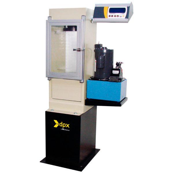 Máquina semi-automática de ensayo para ensayos a compresión en cilindros de concreto. Capacidad de 1.500 kN
