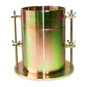 Molde metálico para compactar muestras en el ensayo CBR. Según normas ASTM D1883 y INV E148